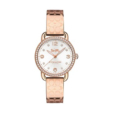 Coach Women's Delancey Etched Sprayed Bangle Watch, Rose Gold