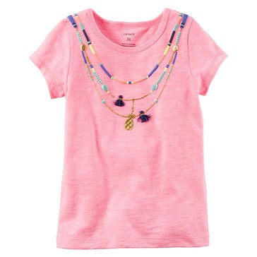 Carter's Baby Girls' Graphic Tee, Necklace