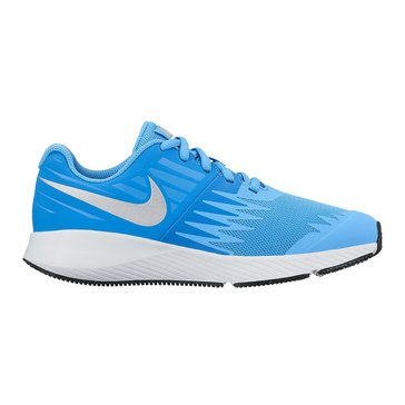 Nike Star Runner Girls' Running Shoe University Blue/ Metallic Silver