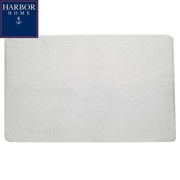 Harbor Home 24x40 Bath Rug, White