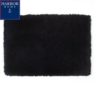 Harbor Home 24X40 Bath Rug, Black