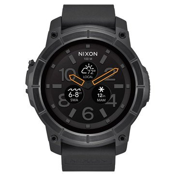 Nixon Men's Mission All Black Smartwatch, 48mm