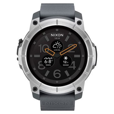 Nixon Men's Mission Stainless Steel/Grey Smartwatch, 48mm