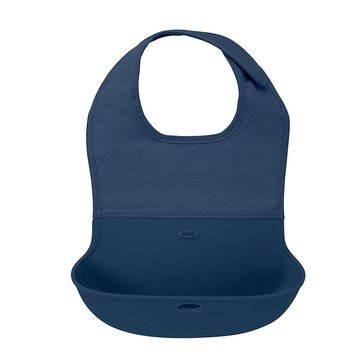 OXO TOT Roll Up Bib, Navy