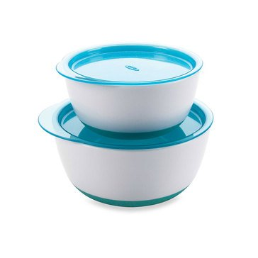 OXO TOT Small and Large Bowl Set, Aqua