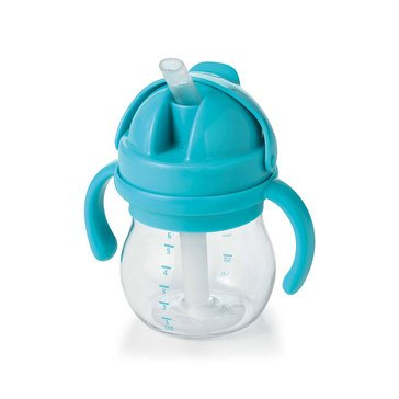 OXO TOT Transitions Straw Cup With Handles, 6oz, Aqua