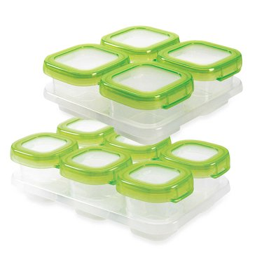 OXO TOT 12-Piece Baby Block Food Storage Set, Green