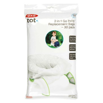 OXO TOT 2-in-1 Go Potty Refill Bags, 30-Pack