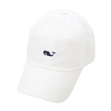 Vineyard Vines Whale Logo Baseball Hat in White Cap