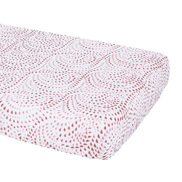 BeBe Au Lait Muslin Crib Sheet, Rose Quartz