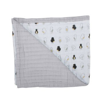 BeBe Au Lait Luxury Muslin Snuggle Blanket, Pipit/Pebble