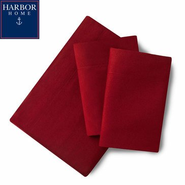 Harbor Home Microfiber Sheet Set, Cabernet - Queen