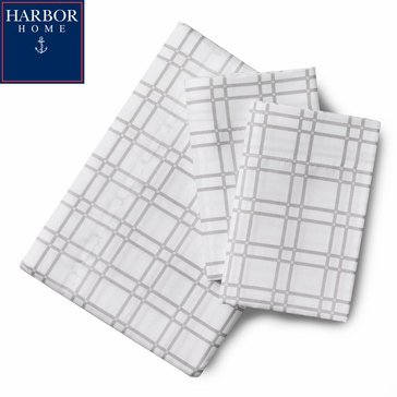 Harbor Home Microfiber Sheet Set, Eastwood Grey - Queen