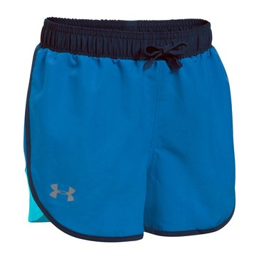 Under Armour Big Girls' Fast Lane Shorts, Blue