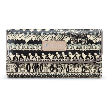 Sakroots Trifold Wallet Black One World