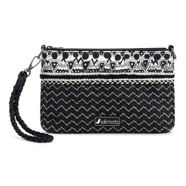 Sakroots Convertible Straw Clutch Black One World