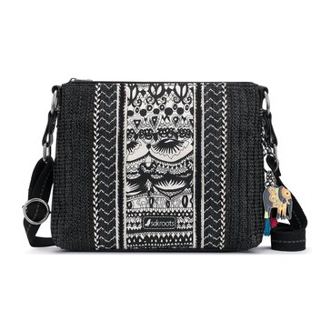 Sakroots Basic Crossbody Black One World