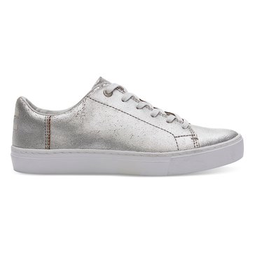 Toms Lenox Women's Sneaker Silver Metallic Leather