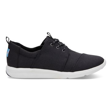 Toms Del Rey Women's Sneaker Black Poly Canvas