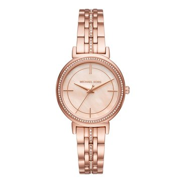 Michael Kors Women's Cyntia Rose Gold Tone Bracelet Watch 33mm