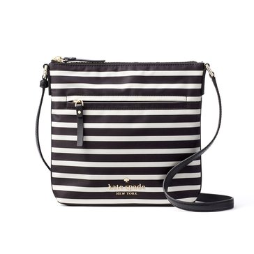 Kate Spade Watson Lane Hester Crossbody Black Clotted Cream