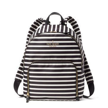 Kate Spade Warson Lane Hartley Backpack Black Clotted Cream