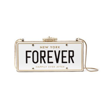 Kate Spade Wedding Belles License Plate Clutch Multi