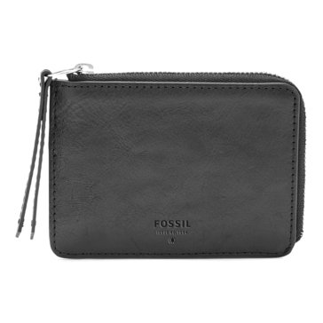 Fossil Military Sydney Zip Coin Wallet Black