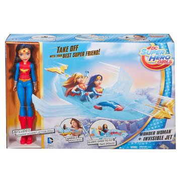 DC Super Hero Girls Wonder Woman & Invisible Jet Doll