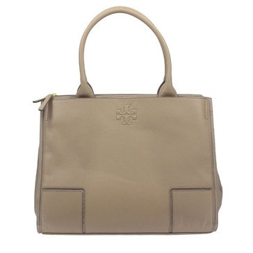 Tory Burch Ella Canvas Leather Tote French Gray