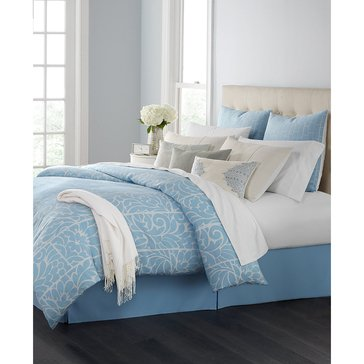 Martha Stewart Collection Charlotte Damask 14-Piece Comforter Set - Queen