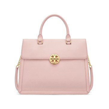 Tory Burch Duet Chain Convertible Satchel Light Oak/ Spark Gold