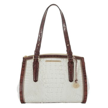 Brahmin Small Alice Shoulder Bag Pearl Akoya