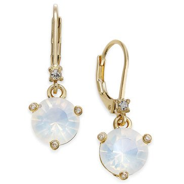 Kate Spade Gold Tone 'Rise & Shine' White Opal Earrings