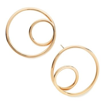 Kate Spade Rose Gold Tone Shine On Twisted Hoop Earrings