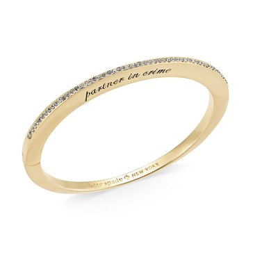 Kate Spade Gold Tone 'Her Day To Shine' Partners In Crime Bangle