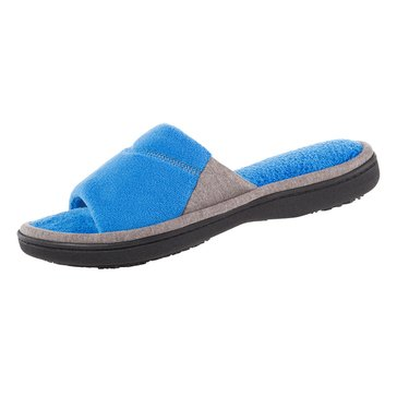 Totes Microterry Mei Slide Slipper Blue