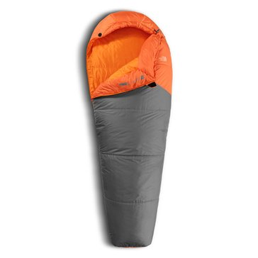 The North Face Aleutian 40/4 Sleeping Bag - Monarch Orange / Zinc Grey - Regular
