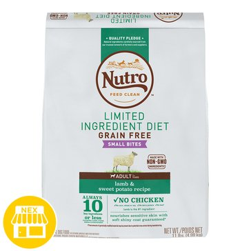 Nutro Limited Ingredient Diets Small Bites Lamb & Sweet Potato Dry Dog Food, 11 lbs.