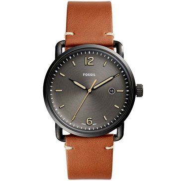 Fossil Men's The Commuter Three-Hand Date Luggage Leather Watch, 42mm