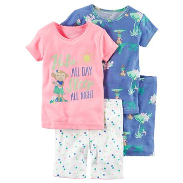 Carter's Baby Girls' 4-Piece Sleepwear Set