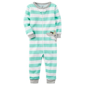 Carter's Baby Boys' Cotton Footless Pajamas, Shark