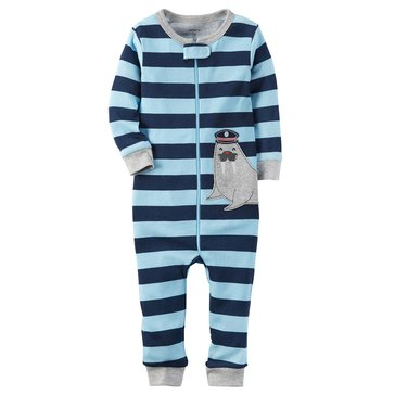 Carter's Baby Boys' Cotton Footless Pajamas, Walrus