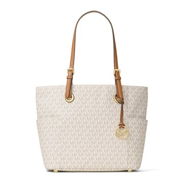 Michael Kors Jet Set Item East West Signature Tote Vanilla