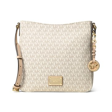 Michael Kors Jet Set Travel Large Messenger Signature Vanilla