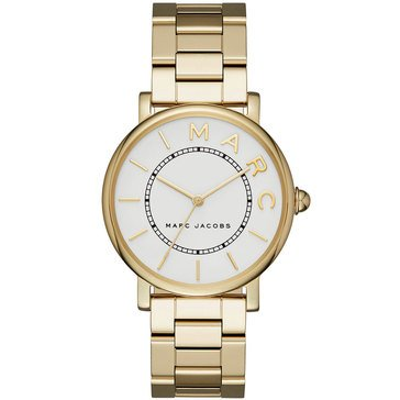 Marc Jacobs Women's Roxy Gold Tone White Dial Bracelet Watch 36mm