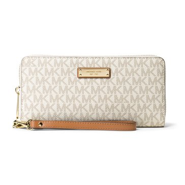 Michael Kors Jet Set Item Travel Continental Signature Vanilla