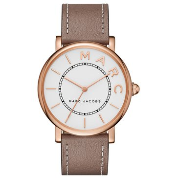 Marc Jacobs Women's Roxy Gray Strap White Rose Case Watch 36mm