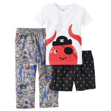Carter's Toddler Boys' 3-Piece Ahoy Captain Pirate Pajama, Print