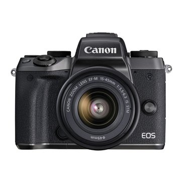 Canon EOS M5 24.2MP Mirrorless Digital Camera with 15-45mm Lens (1279C011AA)
